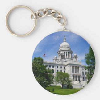 Het Capitool Keychain van Rhode Island Basic Ronde Button Sleutelhanger