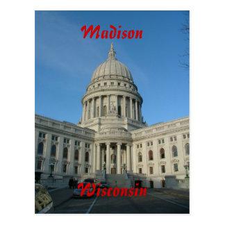 Het Capitool van de staat - Madison Briefkaart