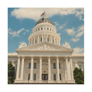 Het Capitool van de Staat van Californië in Hout Print