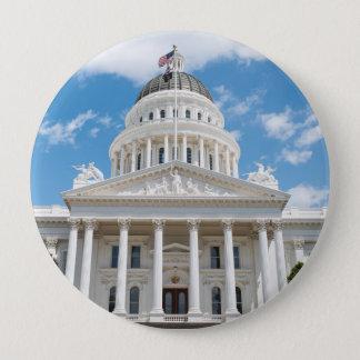 Het Capitool van de Staat van Californië in Ronde Button 4,0 Cm