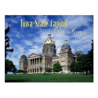Het Capitool van de Staat van Iowa in Des Moines Briefkaart