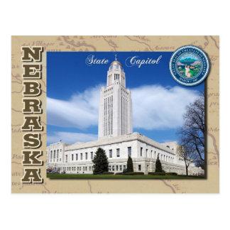 Het Capitool van de Staat van Nebraska, Lincoln, Briefkaart