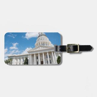 Het Capitool van de Staat van Sacramento van Bagagelabel