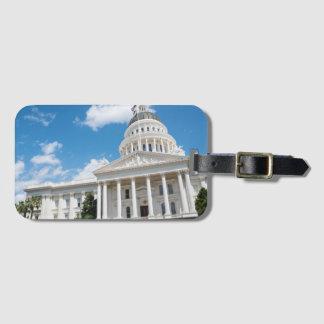 Het Capitool van de Staat van Sacramento van Kofferlabel