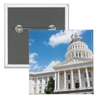 Het Capitool van de Staat van Sacramento van Vierkante Button 5,1 Cm