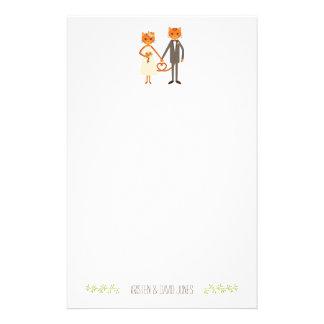 Het capricieuze Bos Gepersonaliseerde Huwelijk van Briefpapier