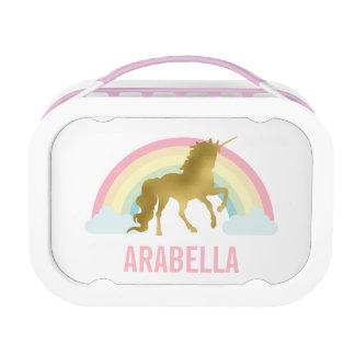 Het capricieuze Gouden Meisje van de Eenhoorn Lunchbox