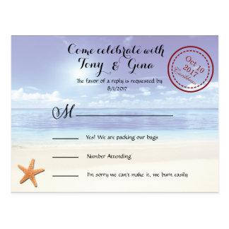 Het Caraïbische Briefkaart van het Huwelijk RSVP