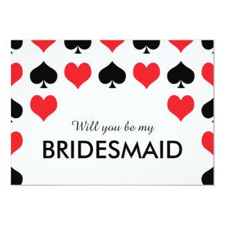 Het Casino van de Spades van harten zal u Mijn 12,7x17,8 Uitnodiging Kaart