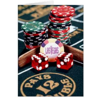 Het Casino van Las Vegas Wenskaart