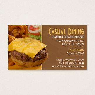 Het casual het Dineren Visitekaartje van het Visitekaartjes