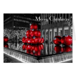Het Centrum Rockefeller van de Foto van Kerstmis Briefkaarten 0