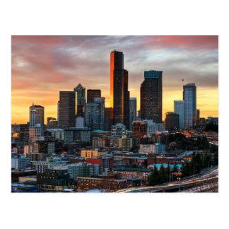 Het centrum van Colombia en Seattle van de Briefkaart