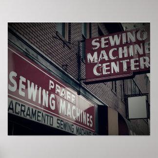 Het Centrum van de Naaimachine van Sacramento Poster