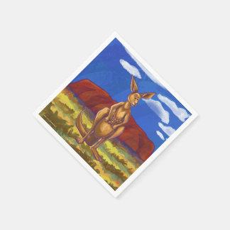 Het Centrum van de Partij van de kangoeroe Papieren Servet