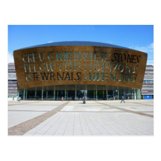 Het Centrum van het millennium, Cardiff, Wales Briefkaart