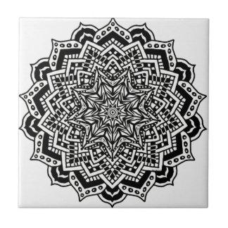 Het ceramische Ontwerp Mandala van de Tegel van de Tegeltje