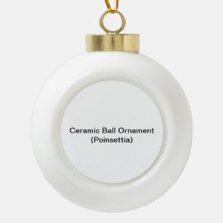 Het ceramische Ornament van de Bal (Poinsettia) Keramische Bal Ornament