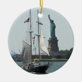 Het Ceramische Ornament van de Haven van New York