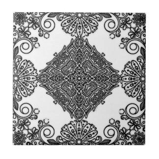 Het ceramische Zwart-witte Ontwerp van de Tegel Tegeltje