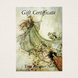 Het Certificaat van de Gift van feeën weg - Arthur Visitekaartjes