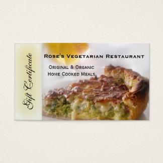 Het Certificaat van de Gift van het restaurant of Visitekaartjes