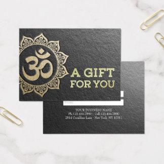 Het Certificaat van de Gift van OM Mandala van de Visitekaartjes