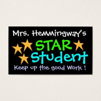 Het Certificaat van de Student van de ster door Visitekaartjes