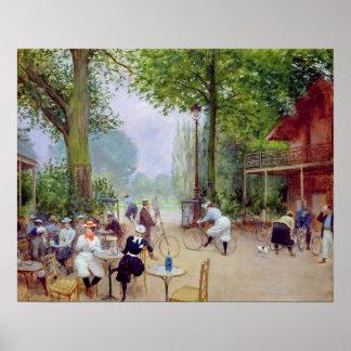 Het chalet du Cycle in het Bois de Boulogne Poster