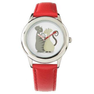 Het charmante Horloge van het Leer van de Katten