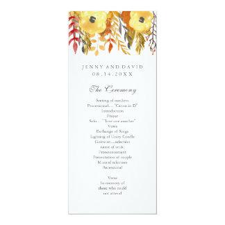 Het charmante Programma van het Huwelijk van de 10,2x23,5 Uitnodiging Kaart