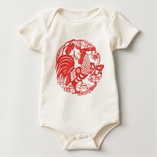 Het Chinese Baby van het Jaar 2017 van de Haan Baby Shirt