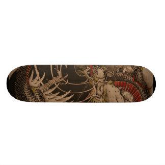 Het Chinese Schilderen van de Draak 21,6 Cm Old School Skateboard Deck