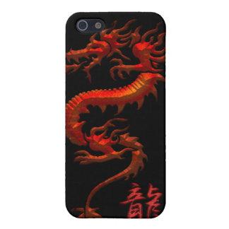 Het Chinese Stammen Rode Hoesje van iPhone van de  iPhone 5 Cases