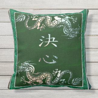Het Chinese StammenMotief van de Draak Buitenkussen