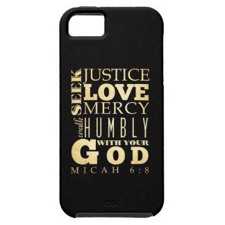 Het Christelijke Bijbelse Vers van de Bijbel - 6:8 Tough iPhone 5 Hoesje