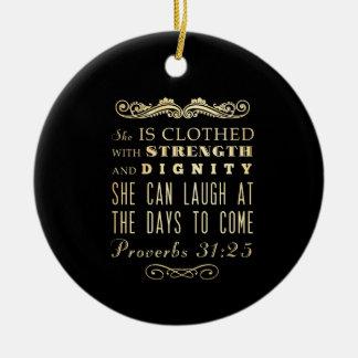Het Christelijke Bijbelse Vers van de Bijbel - het Rond Keramisch Ornament