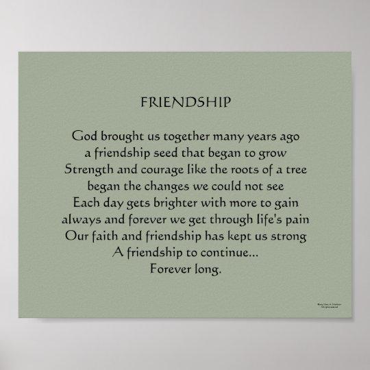 Spiksplinternieuw Het Christelijke Gedicht van de Vriendschap Poster | Zazzle.nl HD-39