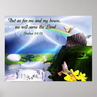 Het Christelijke Poster van het Vers van de Bijbel