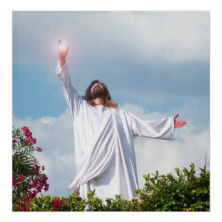 Het Christelijke Poster van Pasen van de Verrijzen