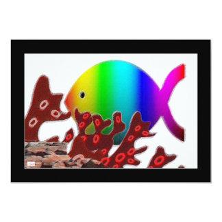 Het Christelijke Symbool van Vissen - de Oceaan 12,7x17,8 Uitnodiging Kaart