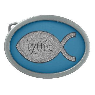 Het Christelijke Symbool van Vissen IXOYE - het Gespen