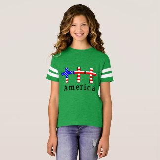 Het Christendom van Amerika! HET GROENE ATLETISCHE T Shirt