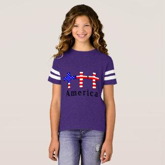 Het Christendom van Amerika! HET PAARSE ATLETISCHE T Shirt