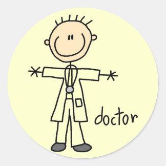 Het Cijfer van de Stok van de arts Ronde Sticker