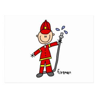 Het Cijfer van de Stok van de brandweerman Briefkaart
