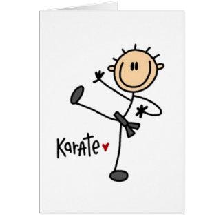 Het Cijfer van de Stok van de karate Wenskaart