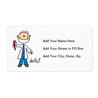 Het Cijfer van de Stok van de tandarts Etiket
