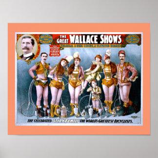 Het Circus van Wallace toont Vintage Poster