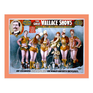 Het Circus van Wallace toont Vintage Poster Briefkaart